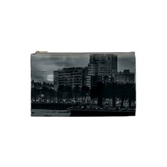 Sunset Coastal Urban Scene, Montevideo, Uruguay Cosmetic Bag (small) by dflcprintsclothing