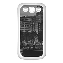 Sunset Coastal Urban Scene, Montevideo, Uruguay Samsung Galaxy S3 Back Case (white) by dflcprintsclothing