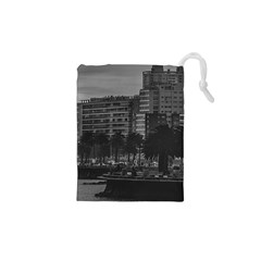 Sunset Coastal Urban Scene, Montevideo, Uruguay Drawstring Pouch (xs) by dflcprintsclothing