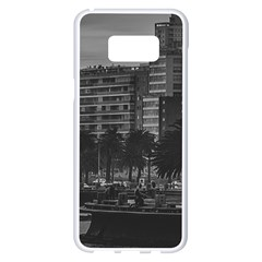 Sunset Coastal Urban Scene, Montevideo, Uruguay Samsung Galaxy S8 Plus White Seamless Case by dflcprintsclothing