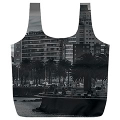 Sunset Coastal Urban Scene, Montevideo, Uruguay Full Print Recycle Bag (xxl) by dflcprintsclothing