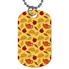 Apple Pie Pattern Dog Tag (two Sides)
