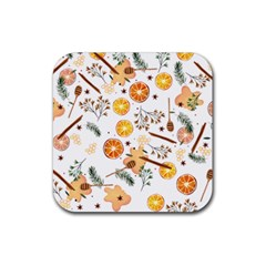 Honey Bee Pattern Rubber Coaster (square)