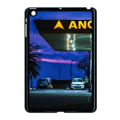 Night Scene Gas Station Building, Montevideo, Uruguay Apple Ipad Mini Case (black) by dflcprintsclothing