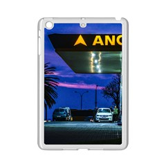Night Scene Gas Station Building, Montevideo, Uruguay Ipad Mini 2 Enamel Coated Cases by dflcprintsclothing