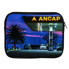 Night Scene Gas Station Building, Montevideo, Uruguay Apple Ipad 2/3/4 Zipper Cases by dflcprintsclothing
