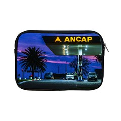 Night Scene Gas Station Building, Montevideo, Uruguay Apple Ipad Mini Zipper Cases by dflcprintsclothing