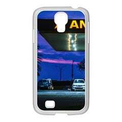 Night Scene Gas Station Building, Montevideo, Uruguay Samsung Galaxy S4 I9500/ I9505 Case (white) by dflcprintsclothing