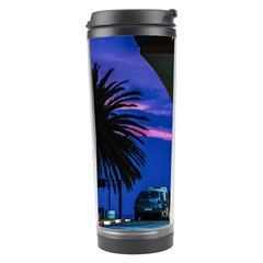 Night Scene Gas Station Building, Montevideo, Uruguay Travel Tumbler by dflcprintsclothing