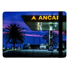 Night Scene Gas Station Building, Montevideo, Uruguay Samsung Galaxy Tab Pro 12 2  Flip Case by dflcprintsclothing