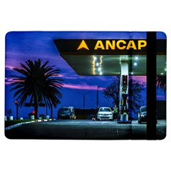 Night Scene Gas Station Building, Montevideo, Uruguay Ipad Air Flip by dflcprintsclothing