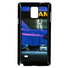 Night Scene Gas Station Building, Montevideo, Uruguay Samsung Galaxy Note 4 Case (black) by dflcprintsclothing