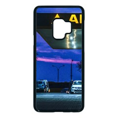 Night Scene Gas Station Building, Montevideo, Uruguay Samsung Galaxy S9 Seamless Case(black) by dflcprintsclothing