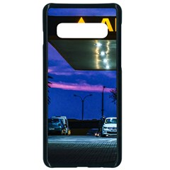 Night Scene Gas Station Building, Montevideo, Uruguay Samsung Galaxy S10 Seamless Case(black) by dflcprintsclothing