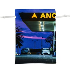 Night Scene Gas Station Building, Montevideo, Uruguay  Lightweight Drawstring Pouch (xl) by dflcprintsclothing