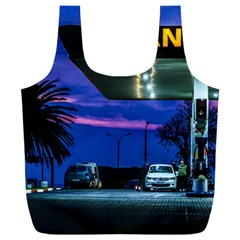 Night Scene Gas Station Building, Montevideo, Uruguay Full Print Recycle Bag (xxxl)