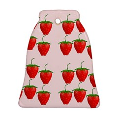 Red Strawberry Fruit Pattern Ornament (bell) by Lotus