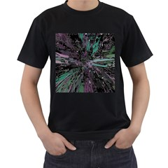 Glitched Out Men s T-shirt (black) (two Sided)