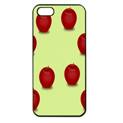 Red Apple Fruit Pattern Iphone 5 Seamless Case (black) by Lotus