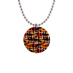 Multicolored Bubbles Print Pattern 1  Button Necklace by dflcprintsclothing