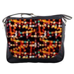 Multicolored Bubbles Print Pattern Messenger Bag by dflcprintsclothing
