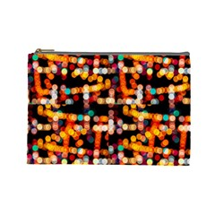 Multicolored Bubbles Print Pattern Cosmetic Bag (large)
