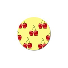 Red Cherry Fruit Pattern Golf Ball Marker by Lotus