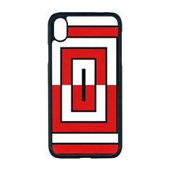 Square Maze Red Iphone Xr Seamless Case (black)