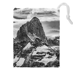 Fitz Roy And Poincenot Mountains, Patagonia Argentina Drawstring Pouch (4xl) by dflcprintsclothing