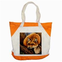 Fox Accent Tote Bag by ArtByThree