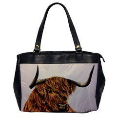 Highland Cow  Giclee Oversize Office Handbag by ArtByThree