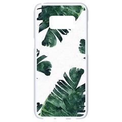 Green Banana Leaves Samsung Galaxy S8 White Seamless Case by goljakoff