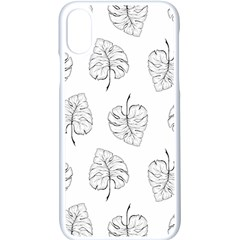 Doodle Leaves Iphone X Seamless Case (white) by goljakoff