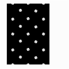 Black And White Baseball Motif Pattern Large Garden Flag (two Sides) by dflcprintsclothing