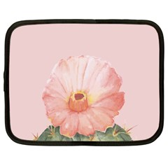 Rose Cactus Netbook Case (large) by goljakoff