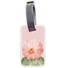 Rose Cactus Luggage Tag (two Sides) by goljakoff