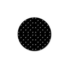 Black And White Tennis Motif Print Pattern Golf Ball Marker (10 Pack) by dflcprintsclothing