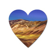Colored Mountains Landscape, La Rioja, Argentina Heart Magnet by dflcprintsclothing