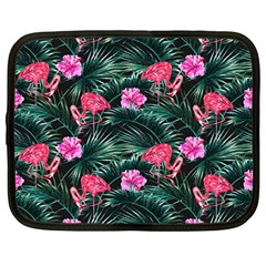 Pink Flamingo Netbook Case (large) by goljakoff