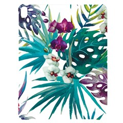 Tropical Flowers Apple Ipad Pro 12 9   Black Uv Print Case by goljakoff