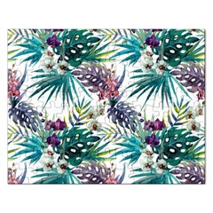 Tropical Flowers Rectangular Jigsaw Puzzl by goljakoff