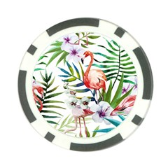 Tropical Flamingo Poker Chip Card Guard (10 Pack) by goljakoff