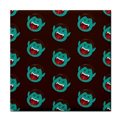 Frankenstein Halloween Seamless Repeat Pattern  Face Towel by KentuckyClothing