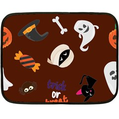 Halloween Seamless Repeat Pattern Double Sided Fleece Blanket (mini)  by KentuckyClothing