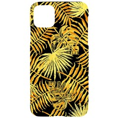 Gold Leaves Iphone 11 Pro Max Black Uv Print Case by goljakoff