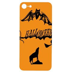 Happy Halloween Scary Funny Spooky Logo Witch On Broom Broomstick Spider Wolf Bat Black 8888 Black A Iphone 7/8 Soft Bumper Uv Case by HalloweenParty