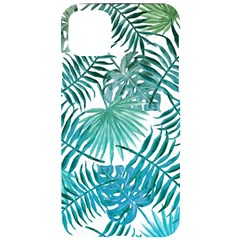 Blue Tropical Leaves Iphone 11 Pro Max Black Uv Print Case