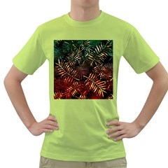 Tropical Leaves Green T-shirt by goljakoff