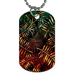 Tropical Leaves Dog Tag (two Sides) by goljakoff
