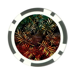 Tropical Leaves Poker Chip Card Guard by goljakoff